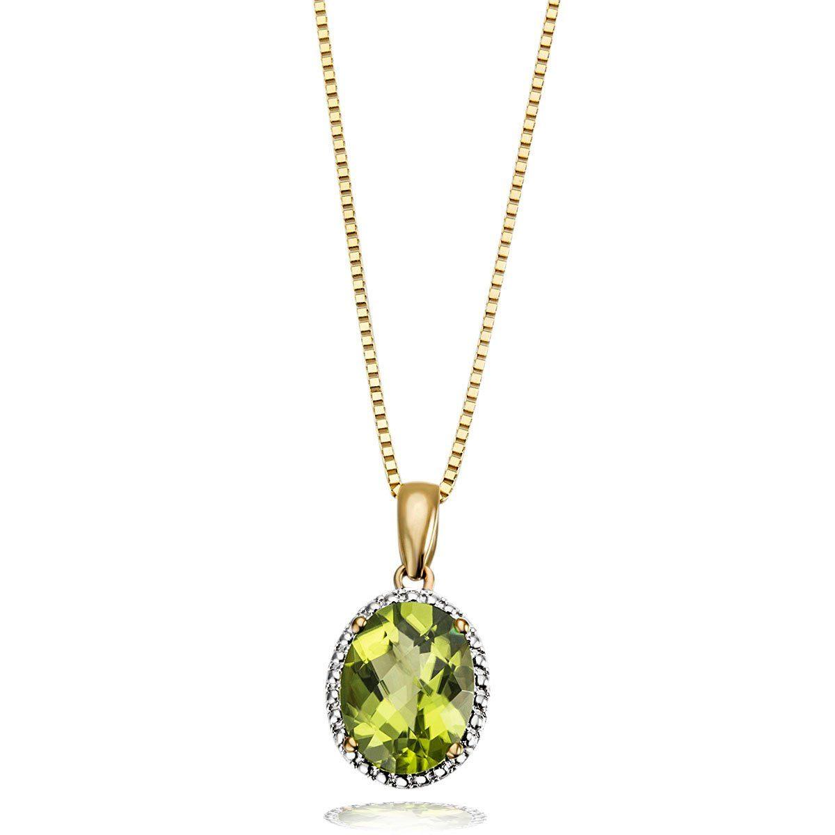 goldmaid Collier 375 Gelbgold 1 Peridot