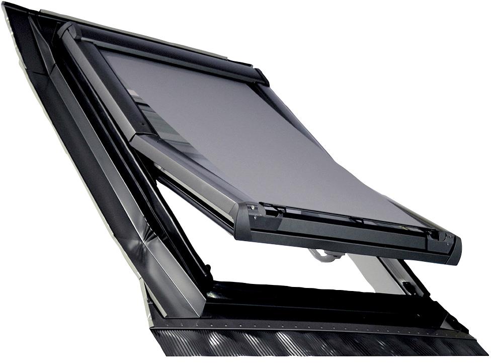 RORO Türen & Fenster Dachfensterrollo Hitzeschutzmarkise, Lichtschutz grau Dachfensterrollos Rollos Jalousien