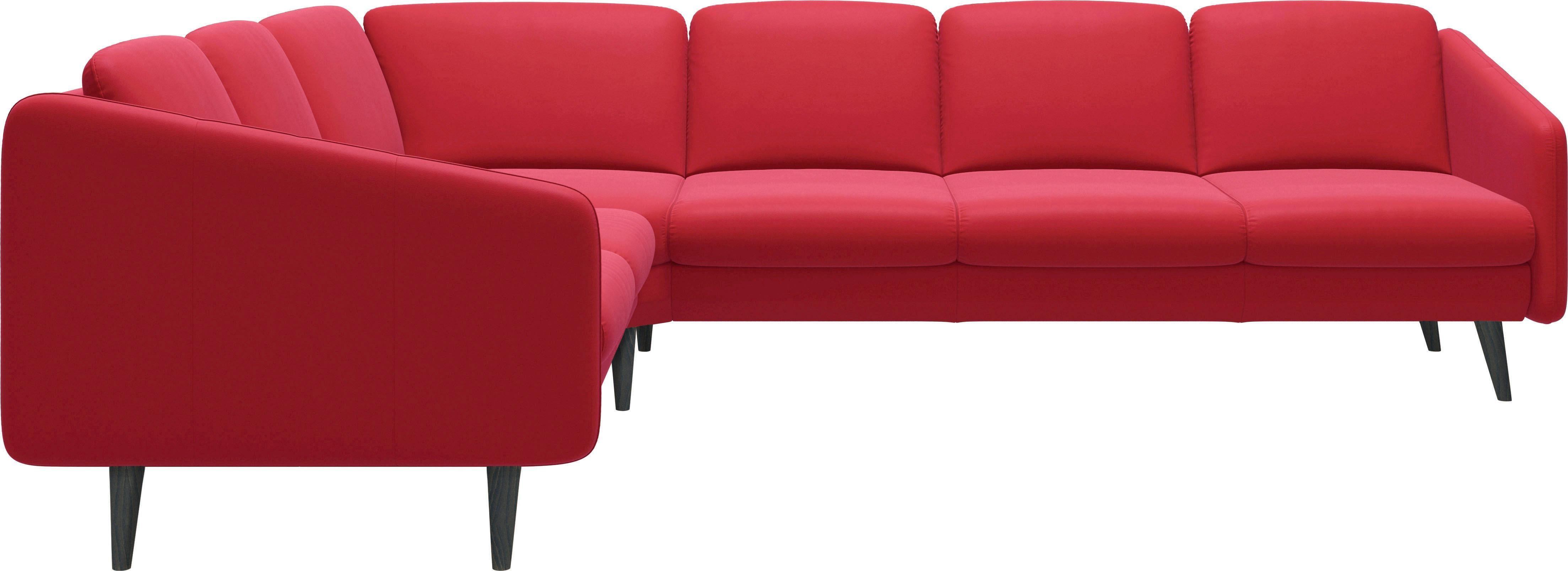 Stressless Ecke 2-Sitzer/3-Sitzer Trio Eve mit schrägen Holzfüßen in 3 Ausführungen | Wohnzimmer > Sofas & Couches > 2 & 3 Sitzer Sofas | Leder - Stoff - Polyester | Stressless