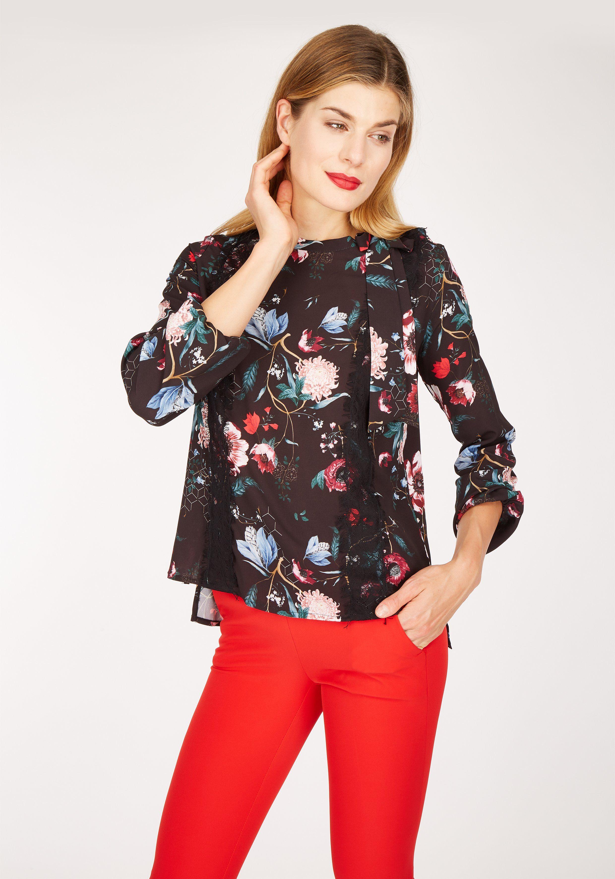 Nicowa Bluse OTILDE mit floralem Muster