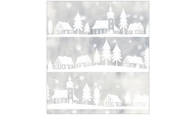 MySpotti Fensterfolie »Look Winter Village white«, halbtransparent, glattstatisch... kaufen
