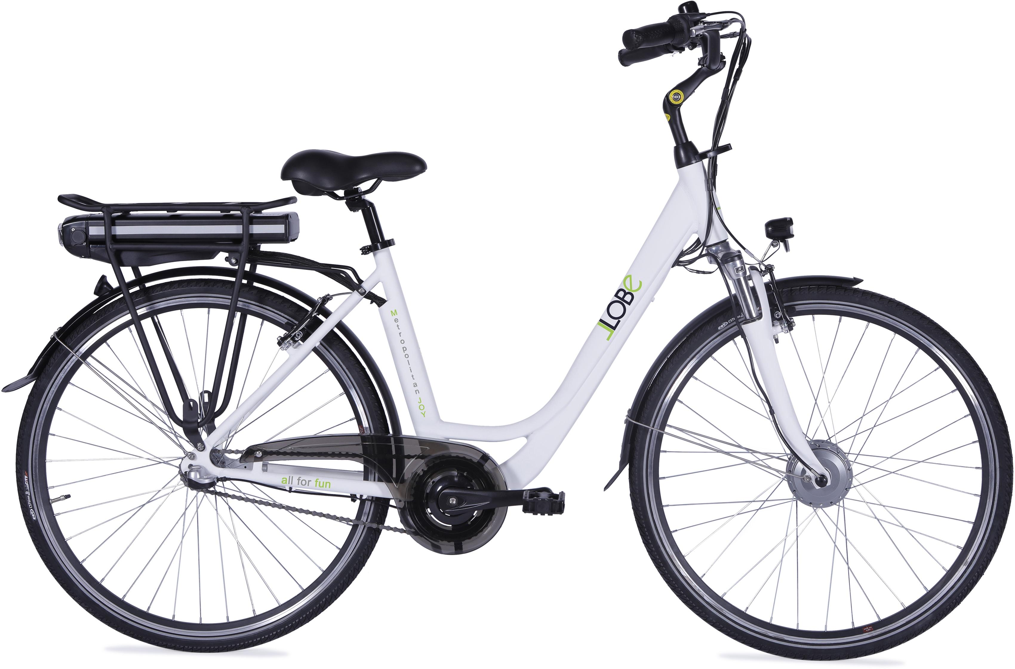 LLobe E-Bike Metropolitan JOY weiß 13 Ah Damen Damenfahrräder Fahrräder Zubehör