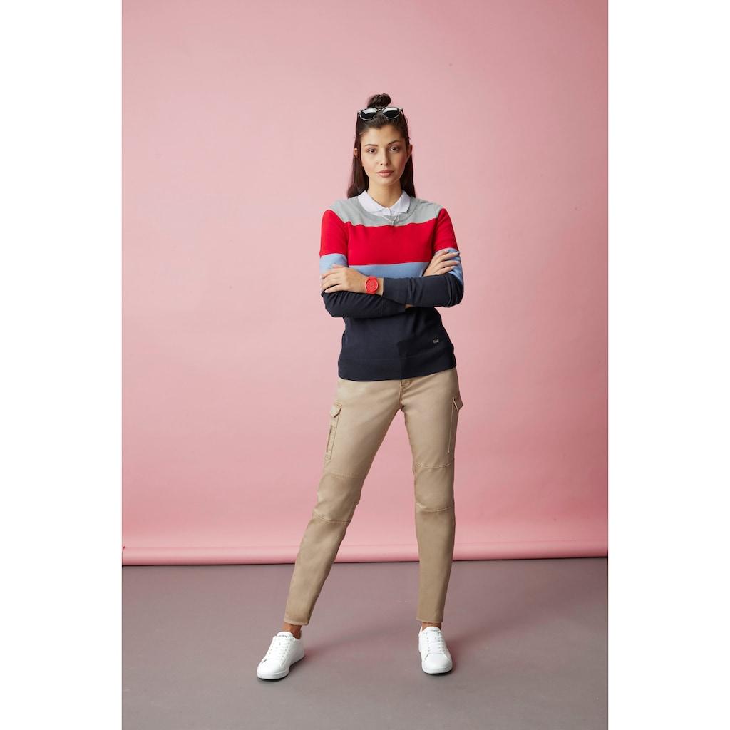 TOM TAILOR Polo Team Langarm-Poloshirt, mit aufwendigen Details