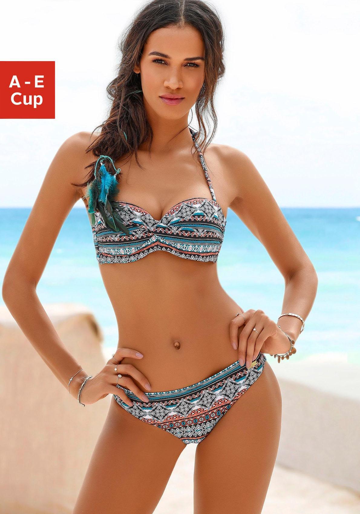 vast selection best website retail prices LASCANA Bandeau-Bikini-Top »Marrakesh« bestellen   BAUR