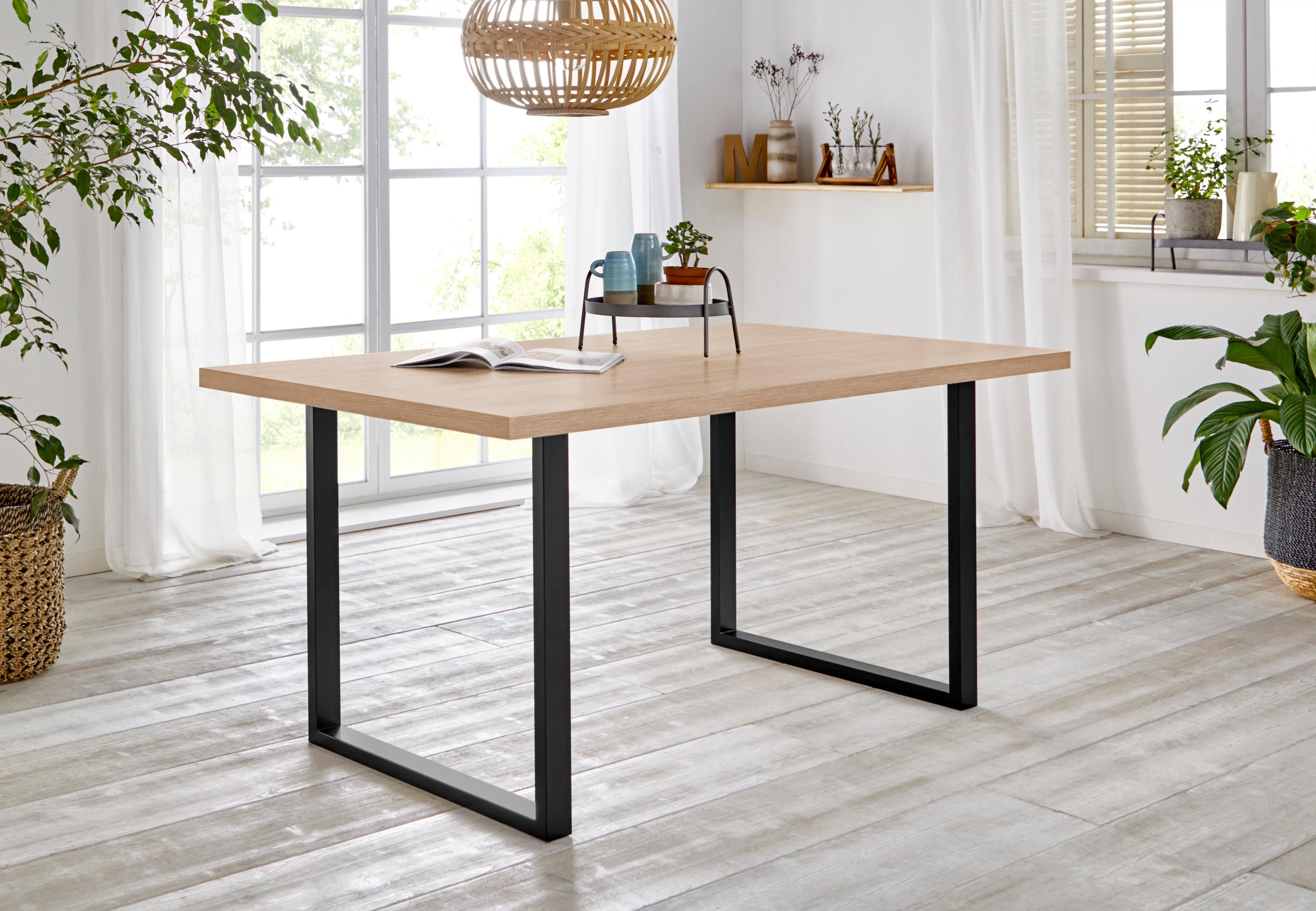 FORTE Esstisch, Breite 140 cm braun Esstisch Esstische rechteckig Tische