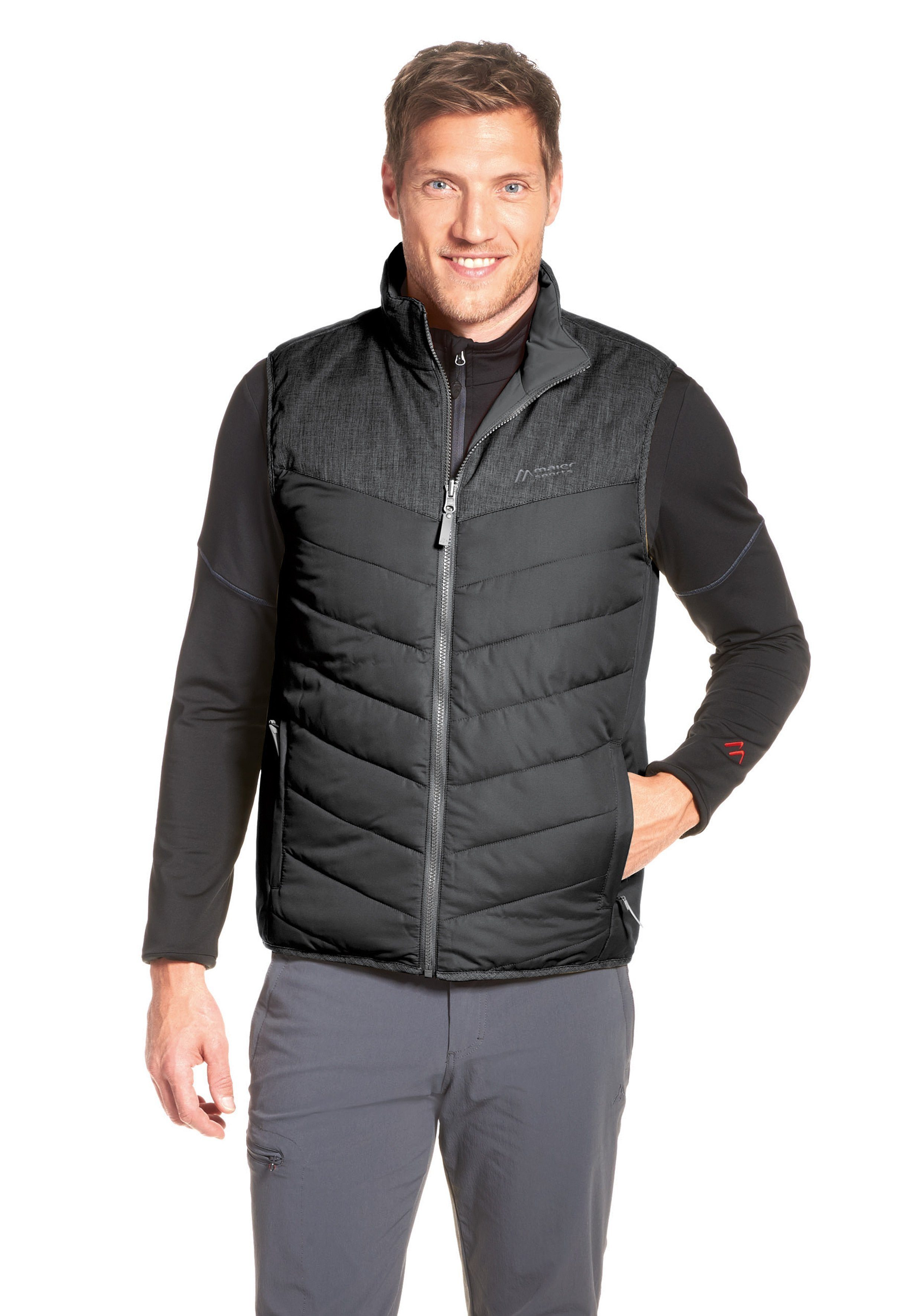Maier Sports Steppjacke Gero Vest | Sportbekleidung > Sportjacken > Steppjacken | Schwarz | Maier Sports