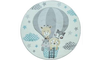Paco Home Kinderteppich »Cosmo 343«, rund, 18 mm Höhe, Kinder Design, niedliches Tier... kaufen