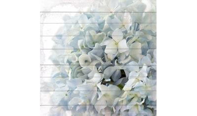 queence Holzbild »Khalil«, Blumen, (1 St.) kaufen