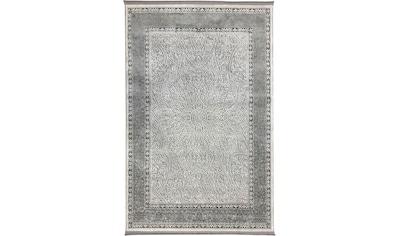 RESITAL The Voice of Carpet Teppich »Style 5028«, rechteckig, 8 mm Höhe, Kurzflor, mit Fransen, Wohnzimmer kaufen