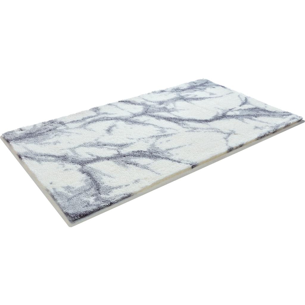 GRUND exklusiv Badematte »Torano«, Höhe 20 mm, rutschhemmend beschichtet, weiche Haptik, Marmor-Optik