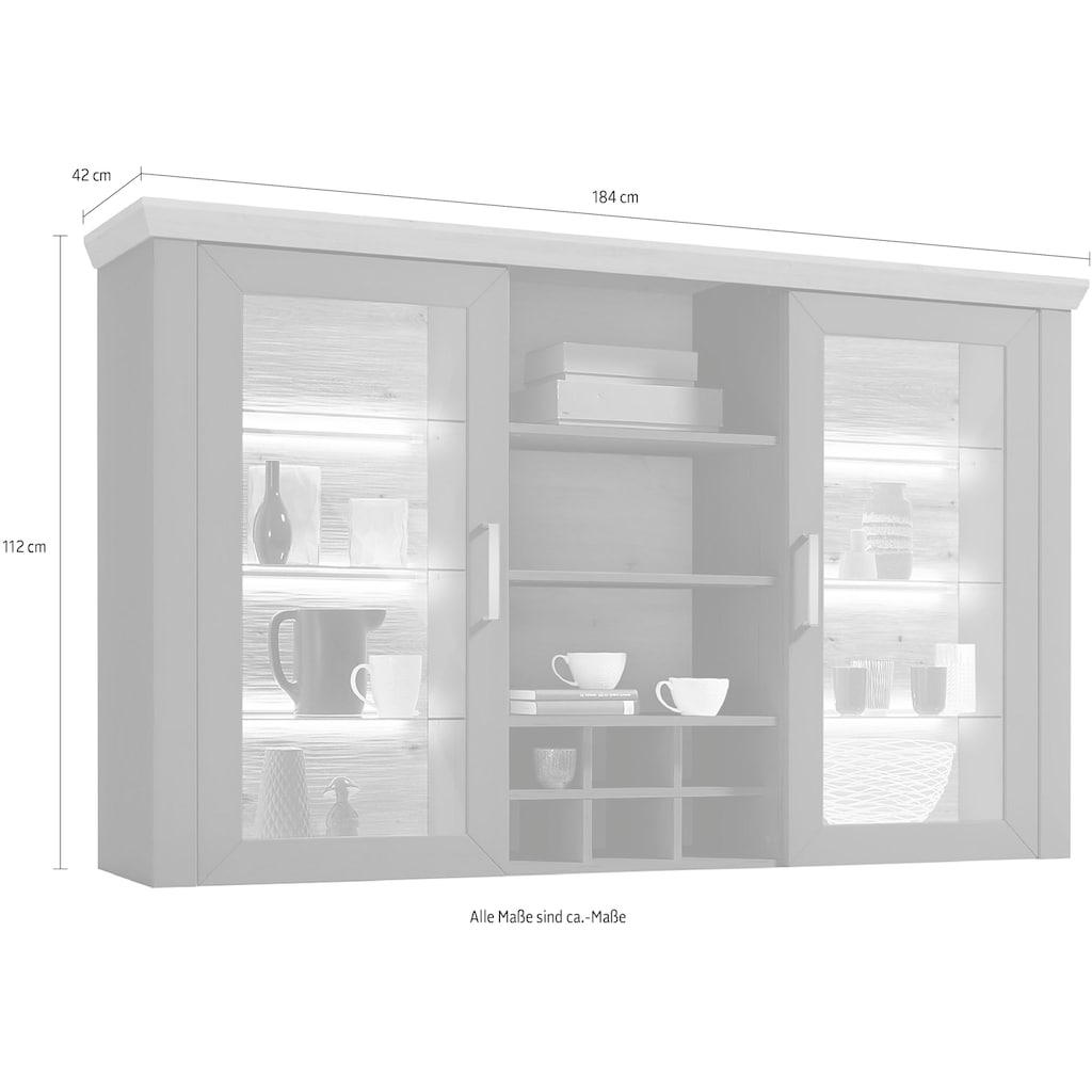 set one by Musterring Hängeschrank »york«, Typ 24, mit 2 Türen mit Glasausschnitt