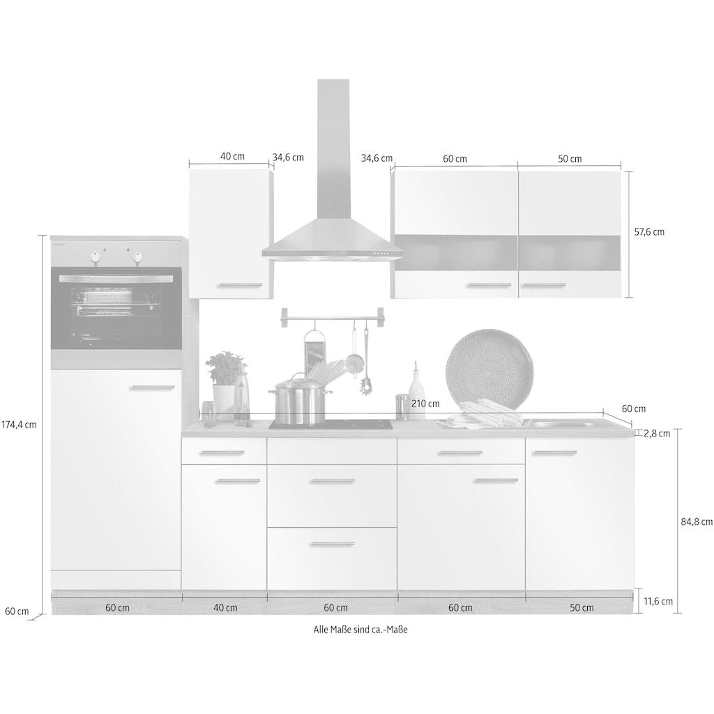 OPTIFIT Küchenzeile »Kalmar«, mit E-Geräten, Breite 270 cm
