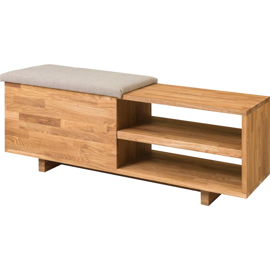 andas Schuhbank »Rainy«, aus schönem massivem Eichenholz, mit einer pflegeleichten gepolsterten Sitzfläche, Breite 66 cm