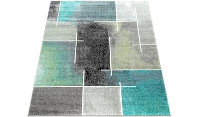 Paco Home Teppich »ECE 936«, rechteckig, 14 mm Höhe, Kurzflor, Karo Design, Wohnzimmer kaufen