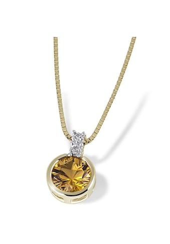 goldmaid Collier 585/- Gelbgold 1 Citrin 2 Diamanten 0,02 ct. kaufen