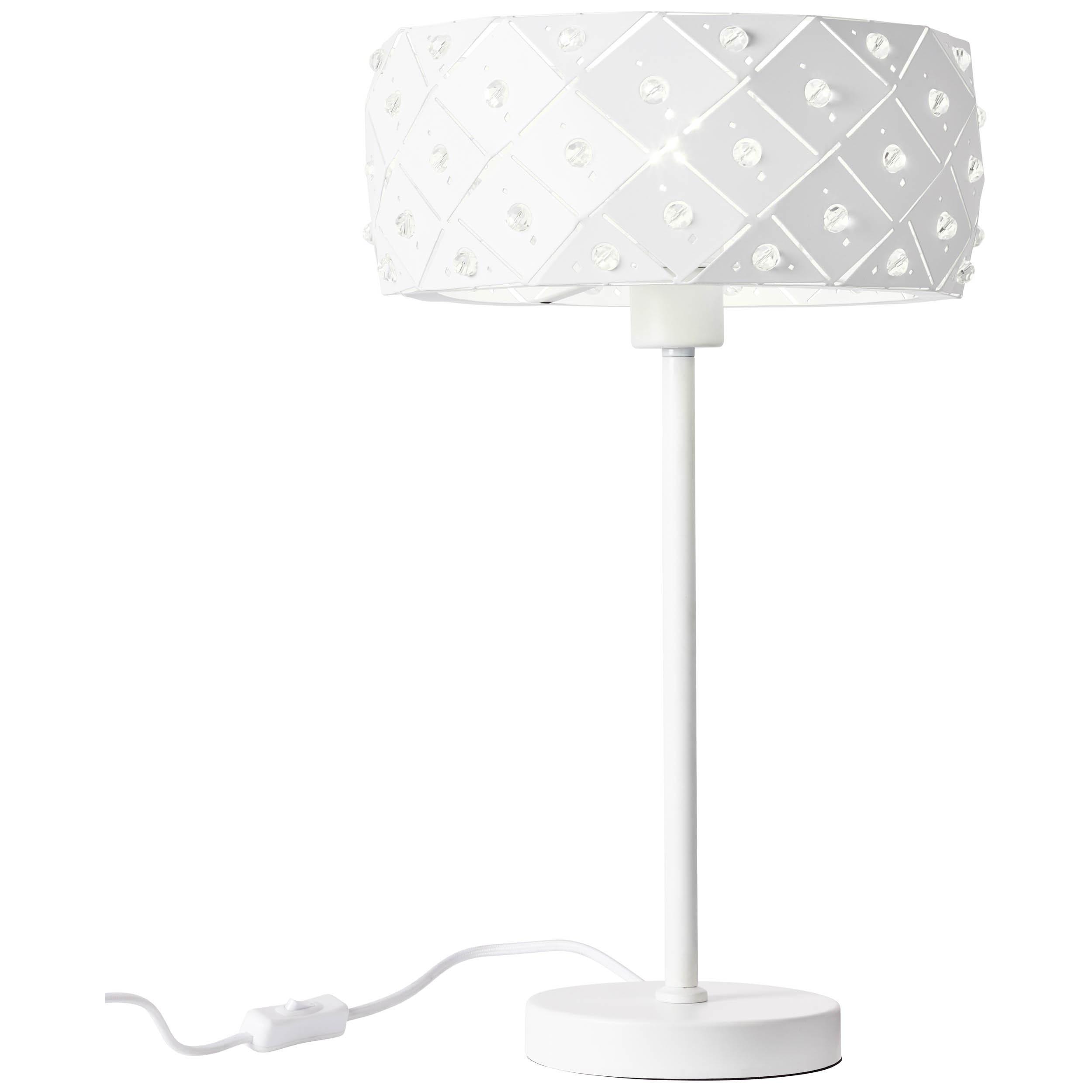Brilliant Leuchten Fona Tischleuchte weiß matt