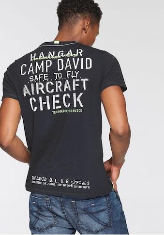 CAMP DAVID T-Shirt, mit V-Ausschnitt kaufen