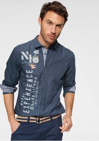 Rhode Island Langarmhemd, mit vielen Details kaufen