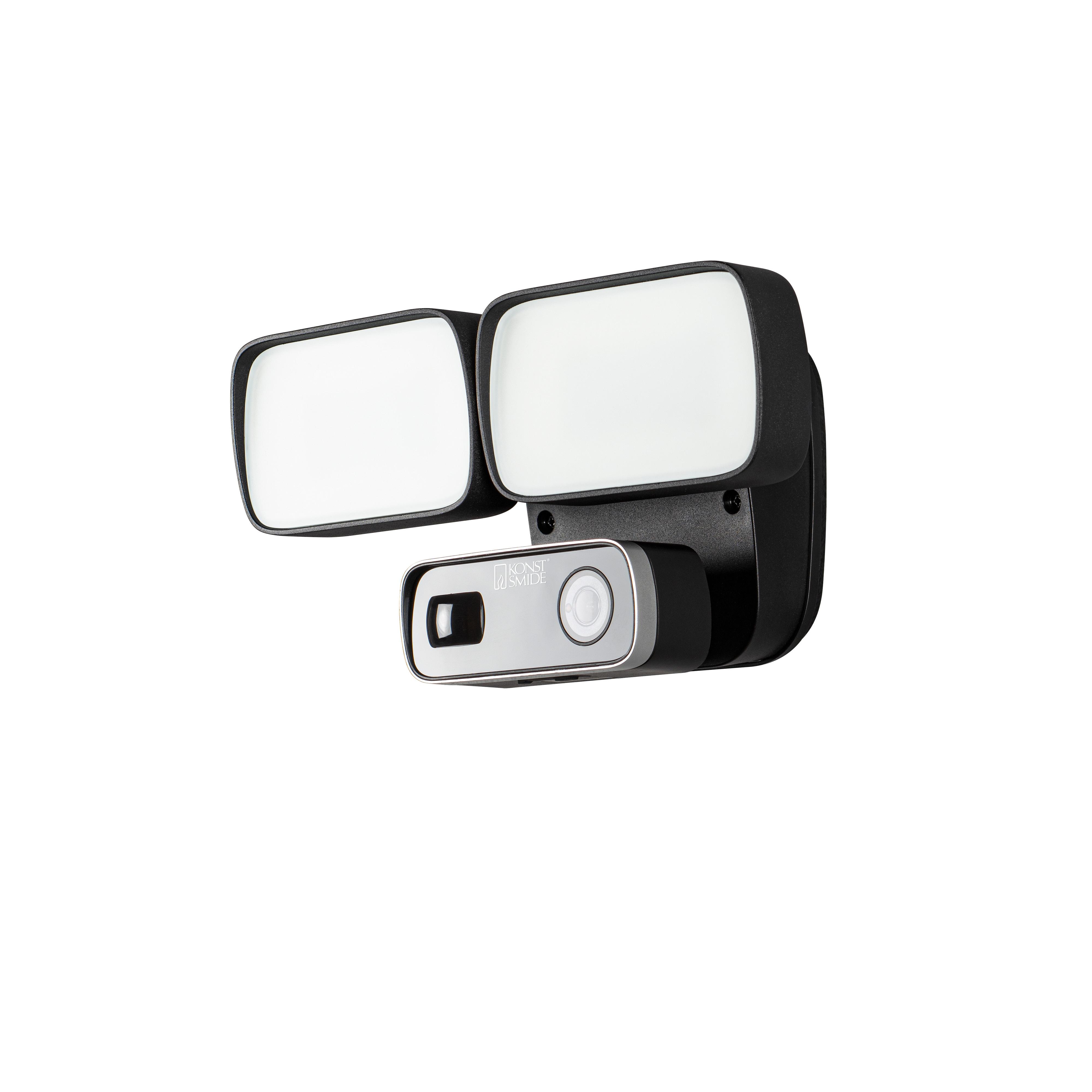 KONSTSMIDE LED Außen-Wandleuchte, Smartlight / Sicherheits- Überwachungslampe