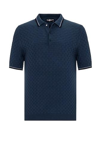 Jimmy Sanders Poloshirt, Zenone mit Strick-Muster kaufen