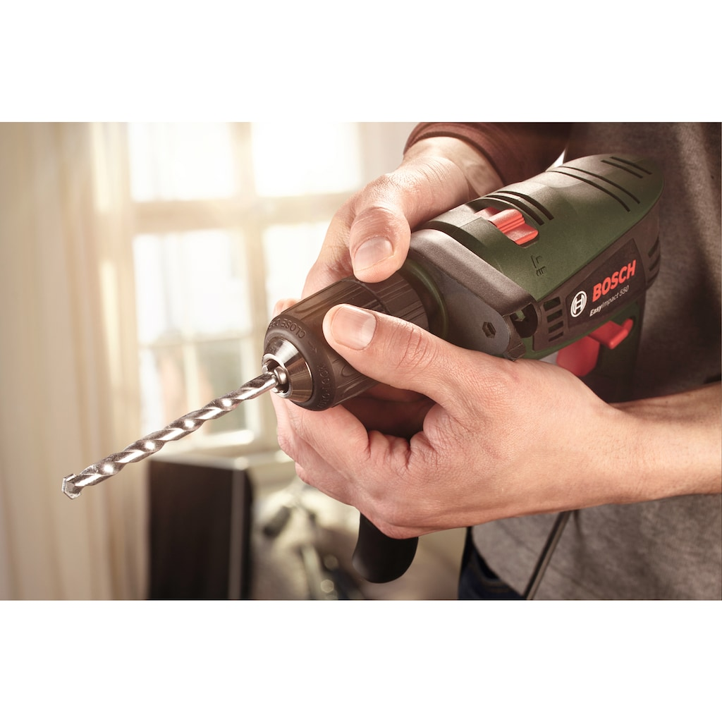 BOSCH Schlagbohrmaschine »EasyImpact 550+Bohrassistent«