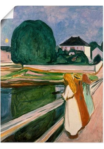 Artland Wandbild »Weisse Nacht (Asgaardstrand). 1903.«, Mann, (1 St.), in vielen... kaufen