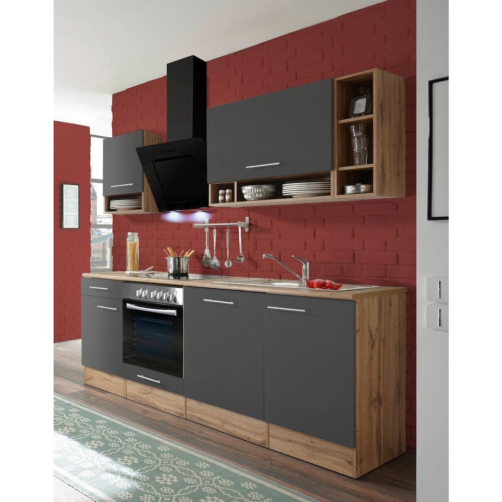 RESPEKTA Küchenzeile »Lübeck«, mit E-Geräten, Breite 220 cm