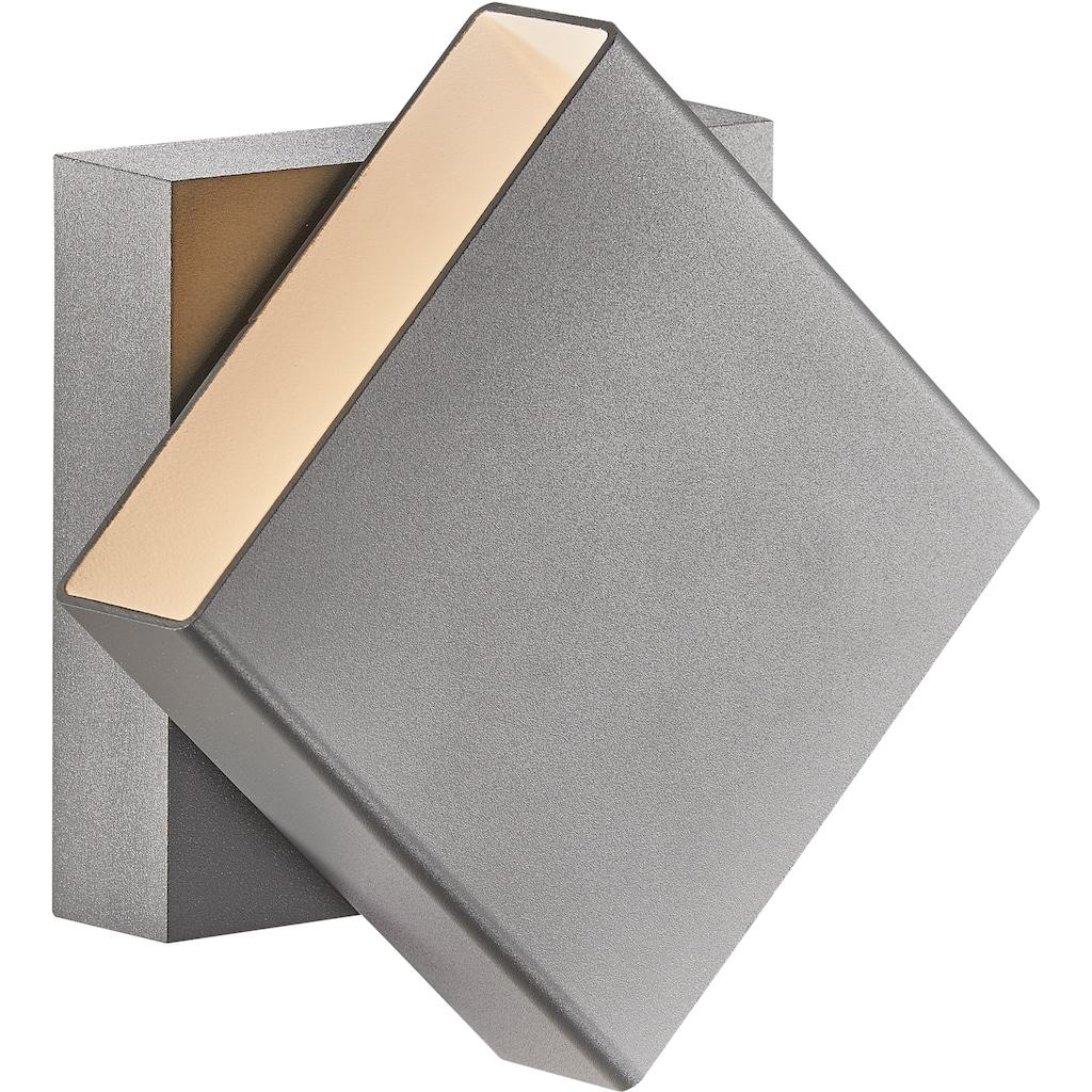 Nordlux LED Außen-Wandleuchte »TURN«, LED-Modul, Drehbarer Magnet Schirm, inkl. LED Modul, IP54 für Innen, Außen und Bad