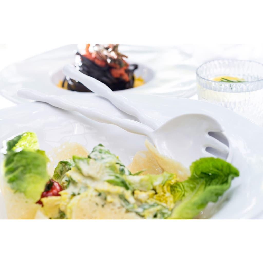 Q Squared NYC Salatbesteck »Ruffle Round Collection«, (Set, 6 tlg.), Melamin