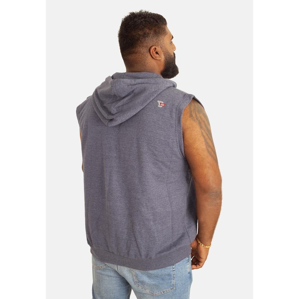 Duke Clothing Sweatweste »Herren Kapuzenweste Blake Kingsize ärmellos«