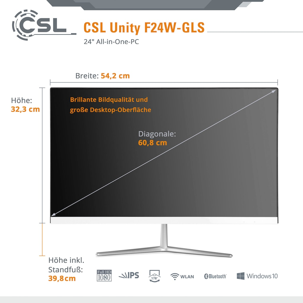 CSL All-in-One PC »Unity F24-GLS mit Windows 10 Home«