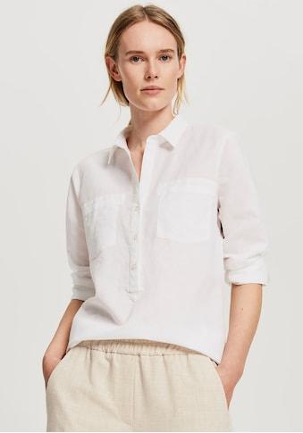 OPUS Schlupfbluse »Fredda«, im klassischen Hemdblusenstil kaufen