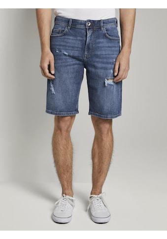 TOM TAILOR Denim Jeansbermudas »Loose Fit Jeansshort in 90er Waschung« kaufen