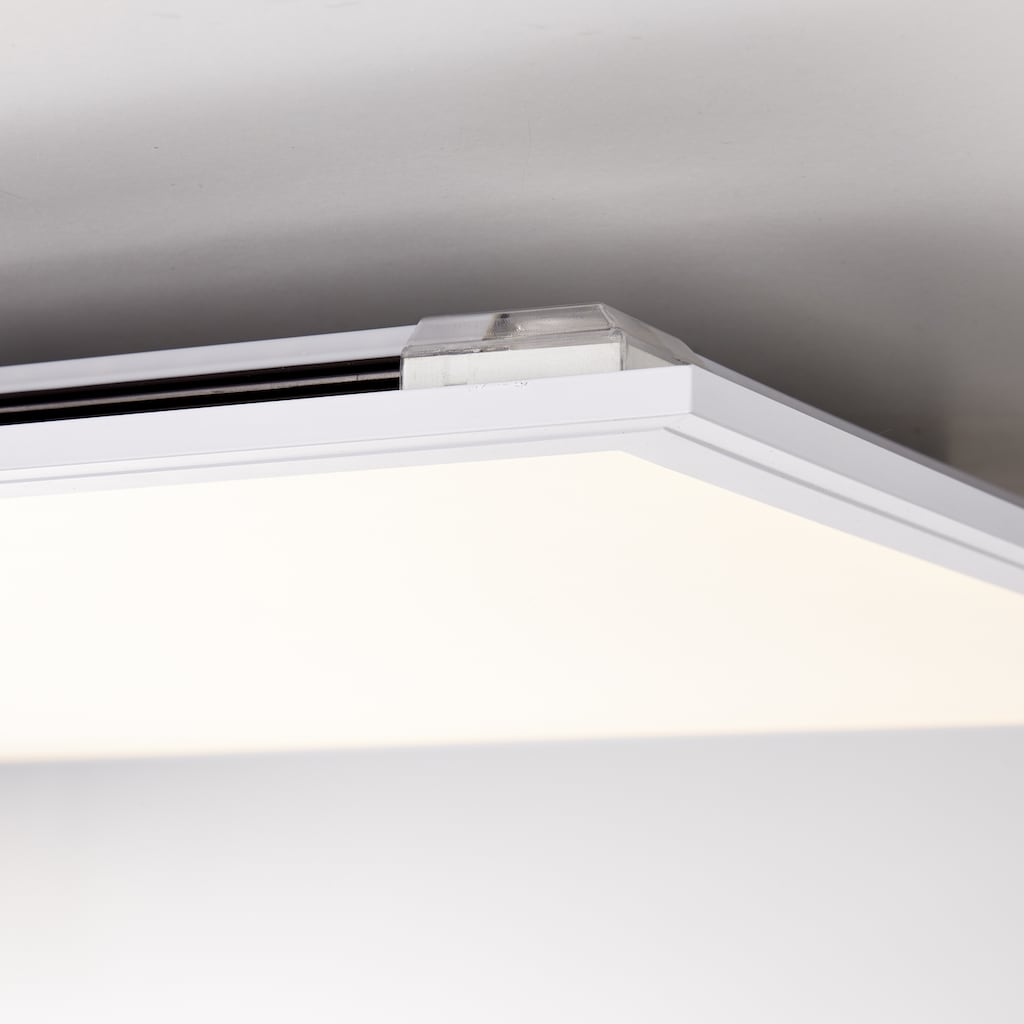 Brilliant Leuchten Allie LED Deckenaufbau-Paneel 60x60cm weiß