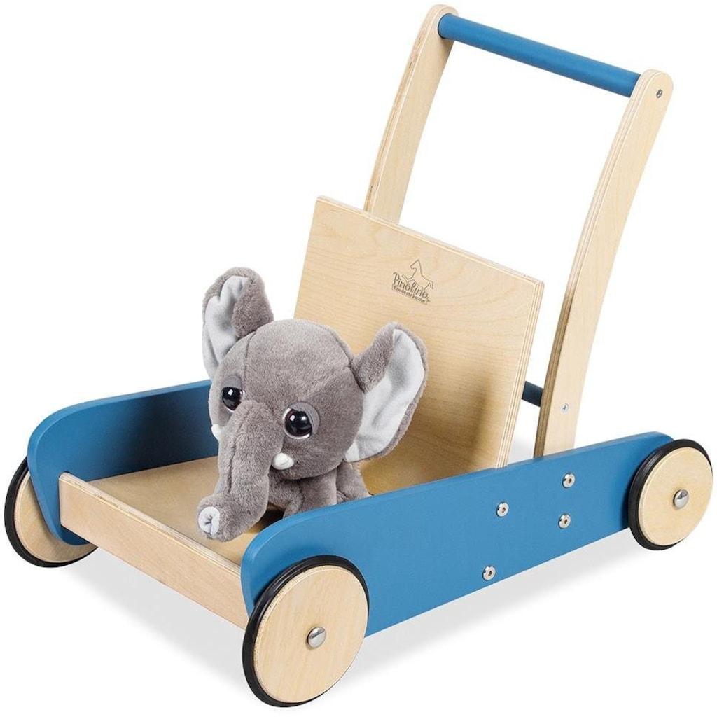 Pinolino® Lauflernwagen »Mats, blau«, aus Holz