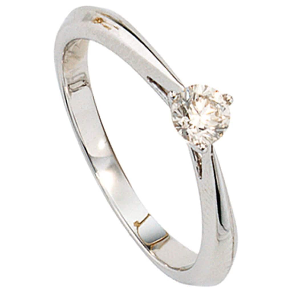 JOBO Solitärring, 585 Weißgold mit Diamant 0,25 ct.