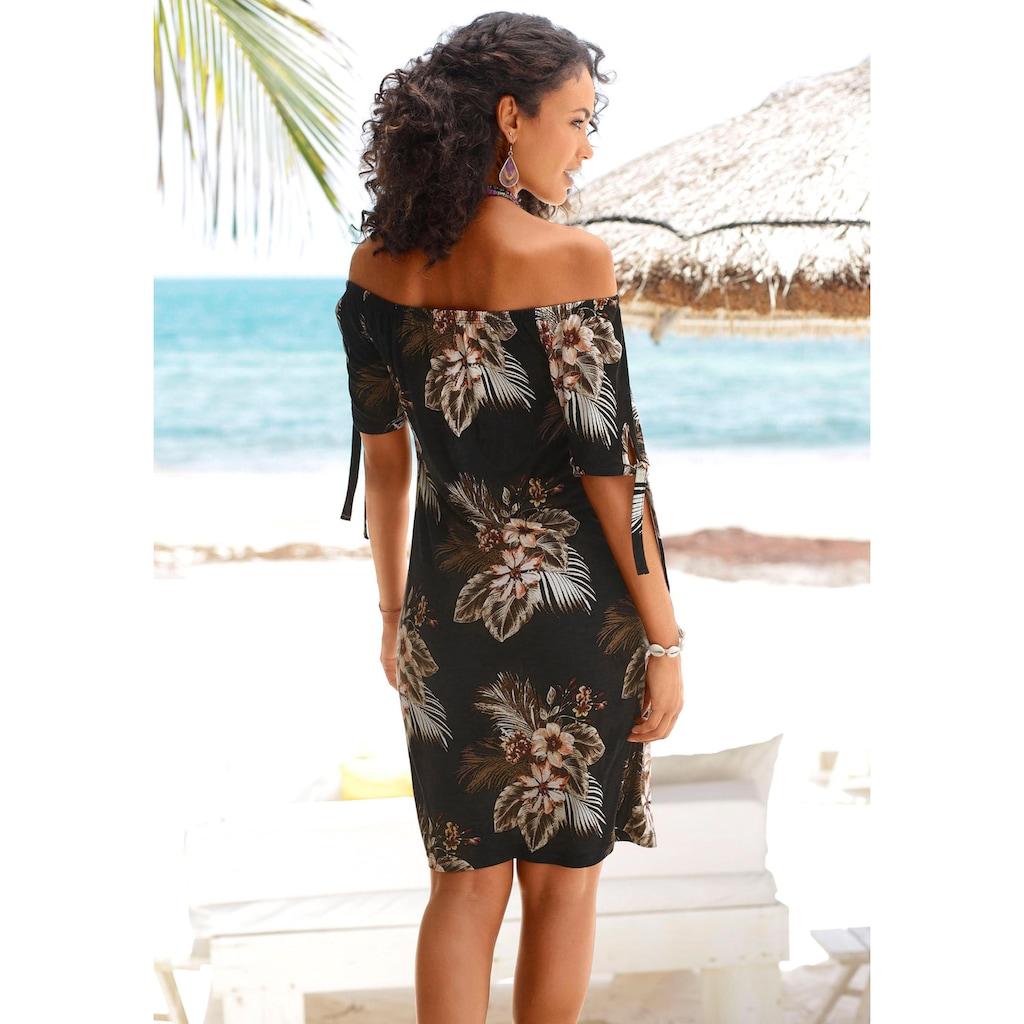 Beachtime Strandkleid, mit Bändern an den Ärmeln