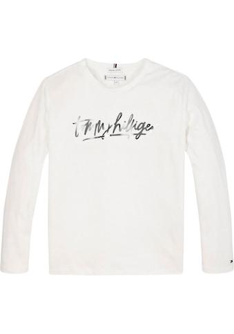 TOMMY HILFIGER Langarmshirt »VINYL TEE« kaufen