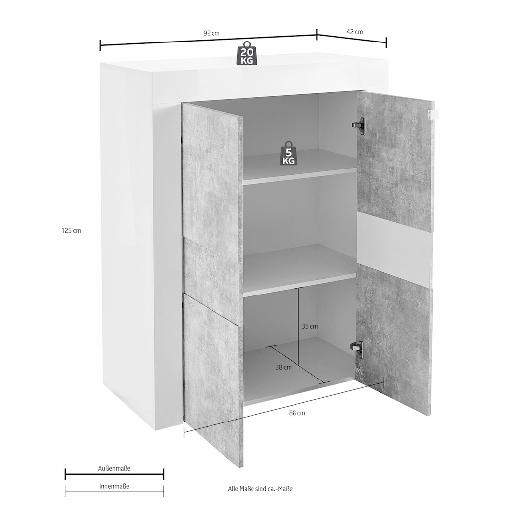 LC Highboard »EASY«, Breite 92 cm