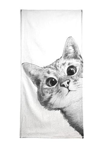 "Handtuch ""Sneaky Cat"", Juniqe kaufen"