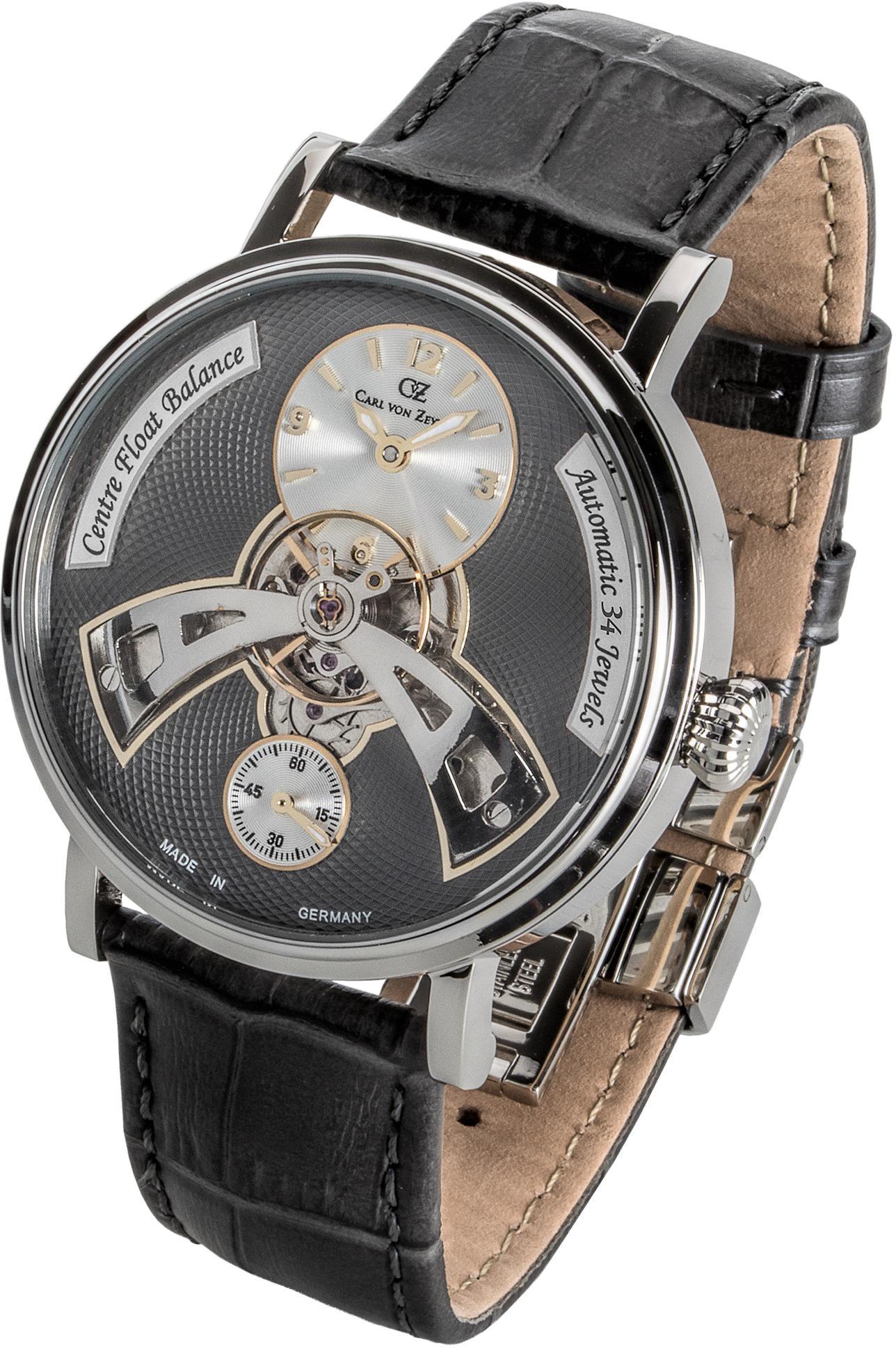 Carl von Zeyten Automatikuhr Baden-Baden CVZ0042GY | Uhren > Automatikuhren | Schwarz | Carl Von Zeyten