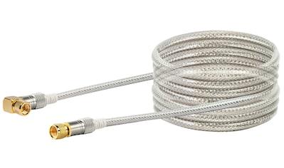 SCHWAIGER HDTV Satellitenkabel 90° gewinkelt, SAT Kabel, 4 - fach geschirmt »F - Stecker vergoldet« kaufen