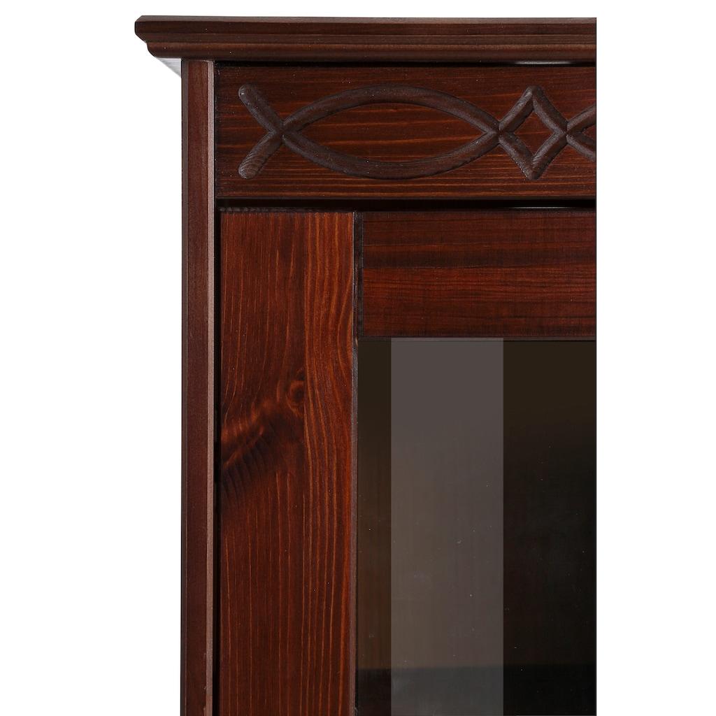 Home affaire Vitrine »Indra«, (2trg.), Höhe 145 cm