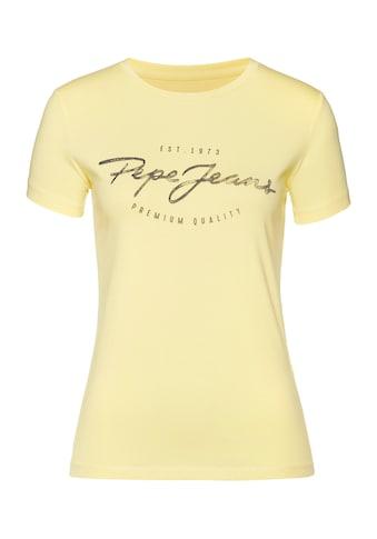 Pepe Jeans T-Shirt »CHARLEEN«, ein besonderes Basic Shirt mit coolem Marken-Logo-Design kaufen