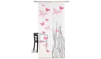 Schiebegardine, »Schmetterling«, emotion textiles, Klettband 2 Stück kaufen