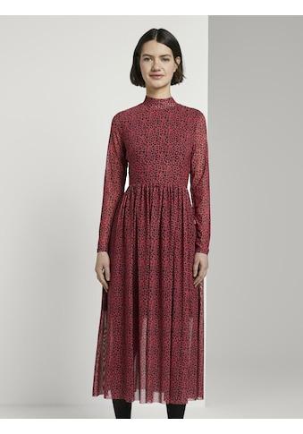 TOM TAILOR Denim Maxikleid »Gemustertes Midi - Kleid« kaufen