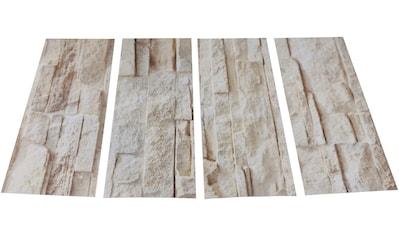 MYSPOTTI Duscheinlage »Klebefliese stepon Bruchsteinwand«, 4er - Set, antirutsch, BxH: 30 x 10 cm kaufen