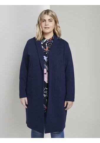 TOM TAILOR MY TRUE ME Wintermantel »Piqué - Mantel mit Kontrast - Details« kaufen