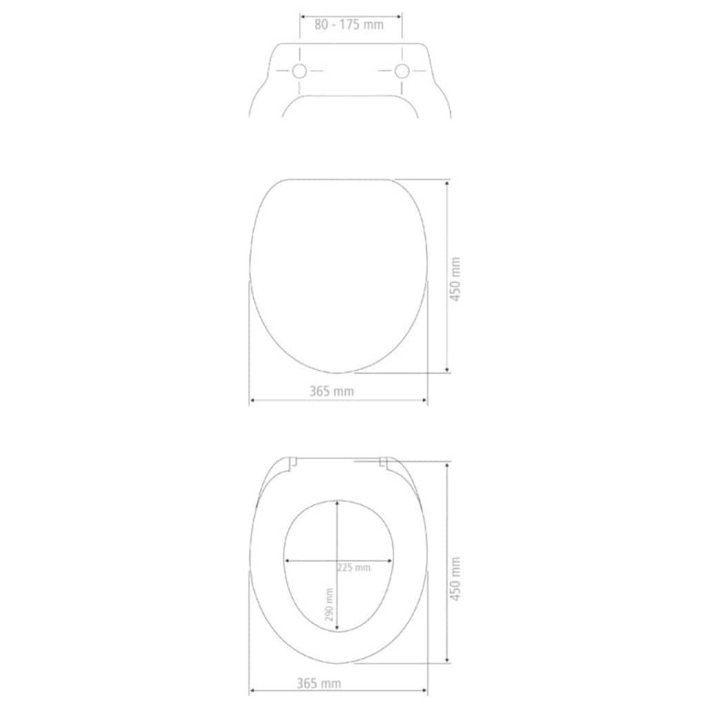 WENKO WC-Sitz »Terrazzo High Gloss«, Thermoplast