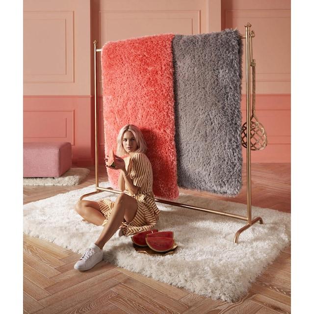 Hochflor-Teppich, »Micro exclusiv«, Guido Maria Kretschmer Home&Living, rechteckig, Höhe 78 mm, handgetuftet